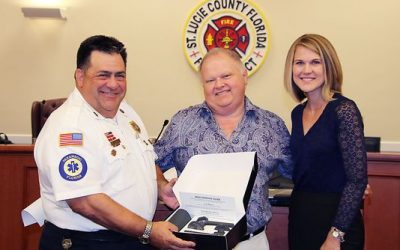 St. Lucie County Fire District welcomes donation of 17 ring cracker devices, silicone rings